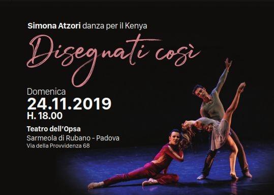 Simona Atzori a Padova danza per il Kenya